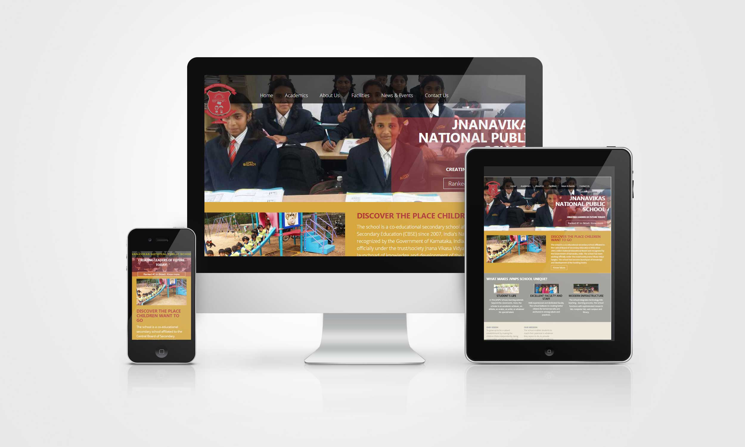 Pelwhiz Portfolio - JnanaVikas National Public School - Website