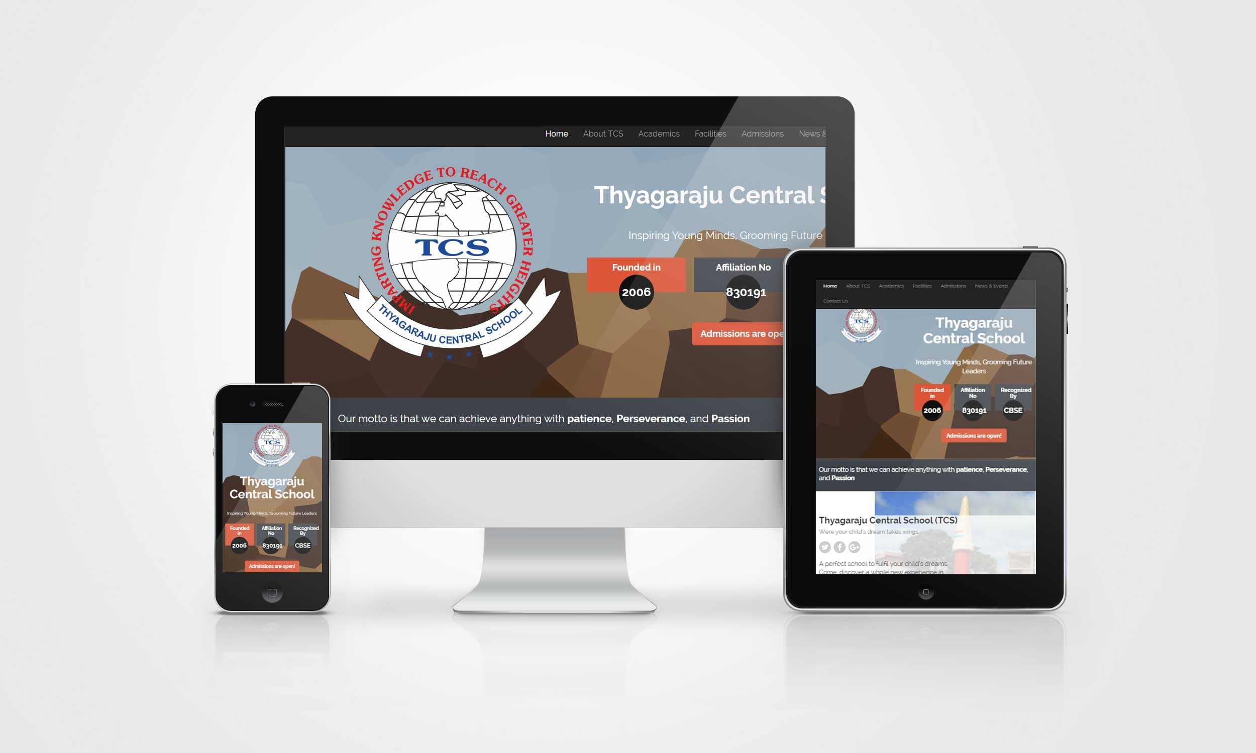 Pelwhiz Portfolio - Thyagaraju Central School - Website